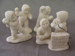 Adorable Winter Play On A Snowy Day Snowbabies 56.68880 Dept. 56 Retired