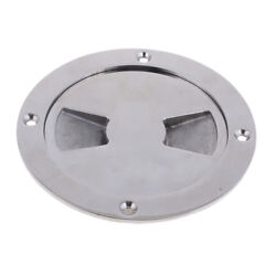 4and039and039 Marine Screw Out Deck Plate Inspection Hatch Stainless Steel Access Boat