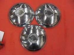 3 Early Corvair Dog Dish Hubcaps Rampside Van 60 61 1960 1961 Hub Caps