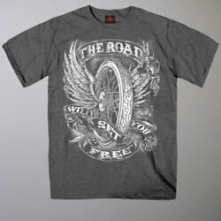 Flying Wheel The Road Will Set You Free T-Shirt