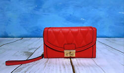 VERA BRADLEY Ultimate Wristley Genuine leather Red New FREE SHIPPING