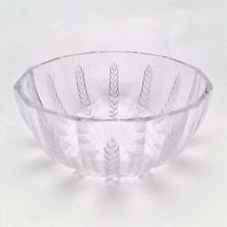 Lalique French Art Glass 'Ceres' Wheat Bowl Designed by Marc Lalique ca. 1970'