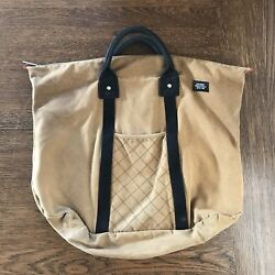 Jack Spade Men's Canvas Bag  Duffle Beach Carry On Tote
