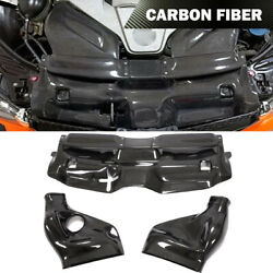 Fit For Benz W204 C63 Amg Air Filter Intake System Cover 12-14 Carbon Fiber