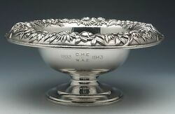 S. Kirk And Son Repousse 9.5 Sterling Silver Pedastaled Fruit Bowl