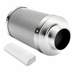iPower 4 Inch Air Carbon Filter Odor Control Scrubber for Duct Inline Fan 12