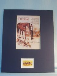 Honoring The Great Race Horse - Phar Lap Honored By The Horse Racing Stamp