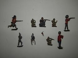 Lot Of 10 Cast Iron Lead Tin Toy Soldiers R17870