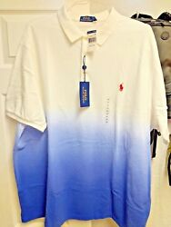 Big And Tall Blackwatch Fade To Blue Polo Shirt Brand New With Tags