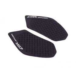 Motorcycle Fuel Tank Side Knee Grip Pads Rubber Decal For Cbr600rr 03-06 Black