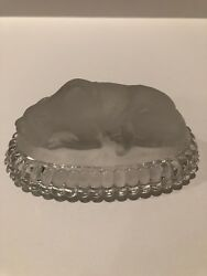 Baccarat Moulded Panther Paper Weight