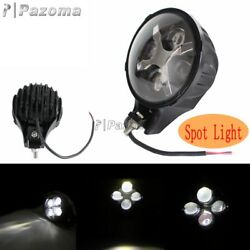 60w Round White Led Fog Spot Light X Drl Turn Signal Offroad For Jeep Atv Suv