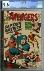 AVENGERS #4 CGC 9.6 CROW PAGES