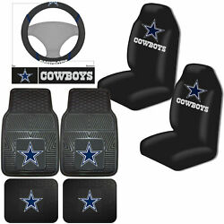 Nfl Dallas Cowboys Car Truck Seat Covers Floor Mats And Steering Wheel Cover