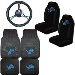 Nfl Detroit Lions Car Truck Seat Covers Floor Mats And Steering Wheel Cover