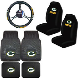 Nfl Green Bay Packers Car Truck Seat Covers Floor Mats And Steering Wheel Cover