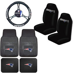 Nfl New England Patriots Car Truck Seat Covers Floor Mats And Steering Wheel Cover