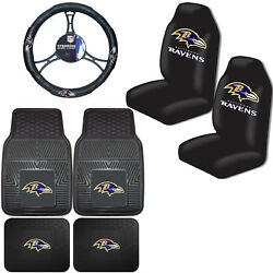 Nfl Baltimore Ravens Car Truck Seat Covers Floor Mats And Steering Wheel Cover
