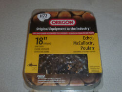 Brand New Oregon 18 Replacement Saw Chain Fits Echo Mcculloch Poulan H72