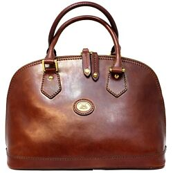 Woman two handle bag THE BRIDGE brown geniune leather New 04855901 14 EUPG