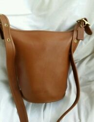 Beautiful Coach Vintage Crossbody Bucket Bag (some scuffs) with inside pocket!