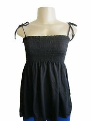 Women Cotton Baby Doll Top with String Strap (BAIK-322)