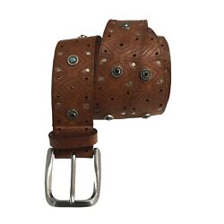 Dandrsquoamico Menand039s Belt Perforated With Application Acu2489 100 Skin Made In Italy