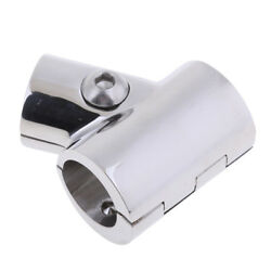 Stainless Steel Bow And Boat Hand Rail 60 Degree Tee Fitting 7/8 Tube