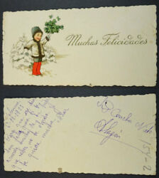 Old Blessed Christmas Holy Card Year 1923 Andachtsbild Santini Santino Cc1925