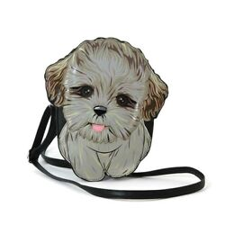 Sleepyville Critters Shih Tzu Puppy Dog Cross Body Purse Handbag $26.50