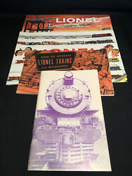 Vtg Toy Train Catalogs/books Lionel And Bowser Lot Of 4