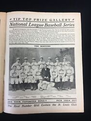Original 1903 Tip Top Weekly Publication Depicting The 1903 Boston Beaneaters