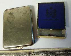 Antique Matches Holder Safe Vesta Pacific Steam Navigation Co And Royal Mail Lines