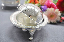 Vintage Silver Plated Revolving Butter / Caviar / Sugar Dish- Gift