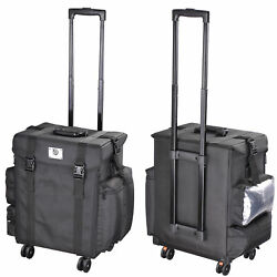 AW® Oxford 4 Wheel Rolling Makeup Case Artist Travel Cosmetic Tool Organizer Bag