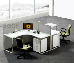 Gof L-shaped Office Partition 78d X 114w X 48h / Freestanding Room Divider