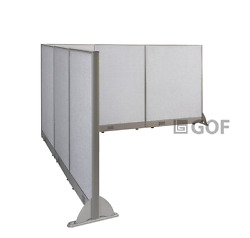Gof L-shaped Freestanding Partition 90d X 114w X 48h / Office Room Divider