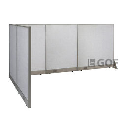 Gof L-shaped Freestanding Partition 60d X 120w X 48h / Office Room Divider
