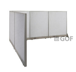 Gof L-shaped Freestanding Partition 84d X 108w X 48h / Office Room Divider