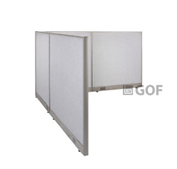 Gof L-shaped Freestanding Partition 96d X 102w X 48h / Office Room Divider