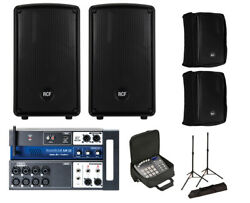 2x RCF HD 10-A MK4 Active Speaker w Covers + Soundcraft Ui12 w Bag + Stands