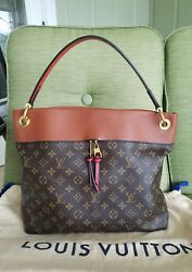 Louis Vuitton Tuileries  Hobo Bag Caramel Leather and Monogram Pattern M43155