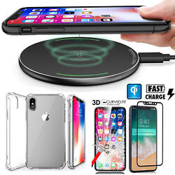 Qi Wireless Charger Pad Stand For Iphone 8 X Galaxy Note 8 S6 S7 Edge S8 Plus