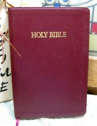 Holy Bible Kjv Red Letter Red Bonded Leather Cover Nelson 1996 Pre-owned