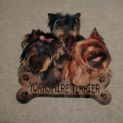 Yorkshire Terrier T Shirt Large Pre-owned good condition