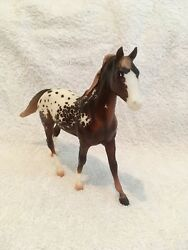 Custom etched Breyer Appaloosa horse - one of a kind individualized model horse
