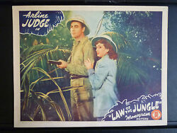 1942 Law Of The Jungle - Bwana With Girl Lobby Card - Black Americana - African