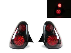 Depo Black Led Rear Tail Light Pair Dot/sae For 2000-2005 Chevy Monte Carlo Ss