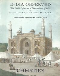 Christie's India Observed Daniell Watercolours Pando Coll Auction Catalog 1996