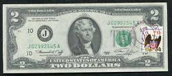 1976 2 Frn Federal Reserve Note Andldquofirst Day Issue Stampedandrdquo Kansas City Mo Unc